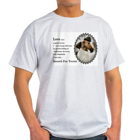 Smooth Fox Terrier Gifts Ash Grey T-Shirt