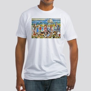 Maurice Prendergast Bathers Fitted T-Shirt