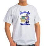 New Orleans Food: Gumbo Ash Grey T-Shirt