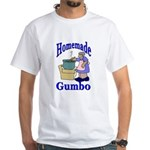 New Orleans Food: Gumbo White T-Shirt