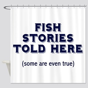 Fish Stories Shower Curtain