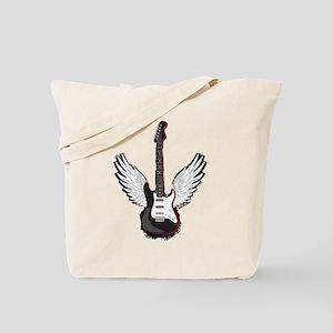 Winged Guitar Tote Bag