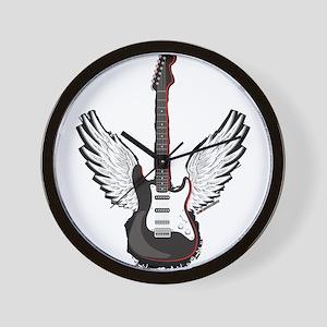 Winged Guitar Wall Clock