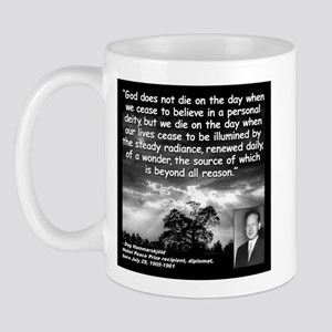 Hammarskjold God Quote 2 Mug