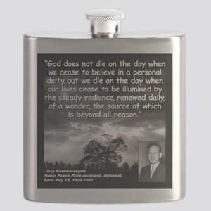 Hammarskjold God Quote 2 Flask