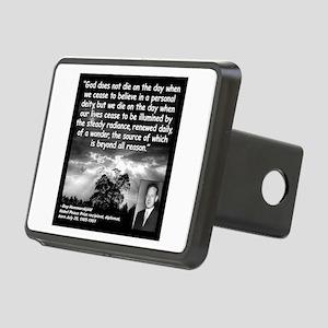 Hammarskjold God Quote 2 Rectangular Hitch Cover