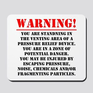 Warning - Venting Area Mousepad