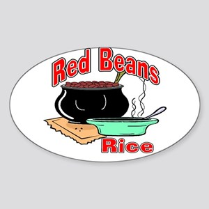 Red Beans and Rice Oval Sticker