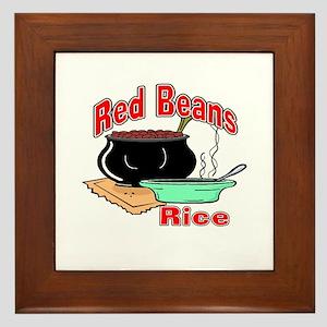 Red Beans and Rice Framed Tile
