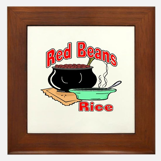 Red Beans and Rice Framed Tile