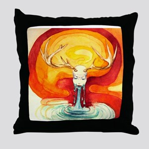 Heimlich maneuver in the outer space Throw Pillow
