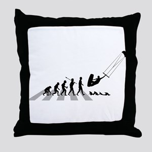 Kitesurfing Throw Pillow
