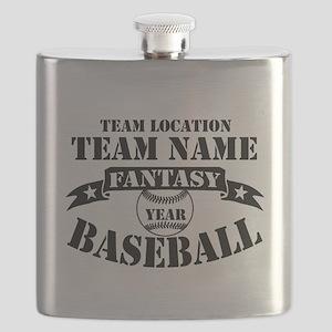 Personalized Fantasy Baseball Flask