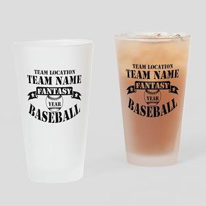 Personalized Fantasy Baseball Drinking Glass