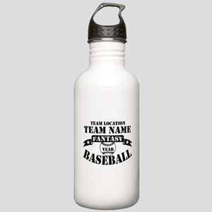 Personalized Fantasy Baseball Stainless Water Bott