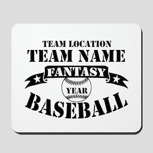 Personalized Fantasy Baseball Mousepad