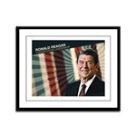 President Ronald Reagan Framed Panel Print