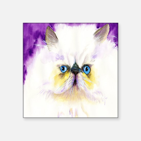 "Himalayan Cat Square Sticker 3"" x 3"""