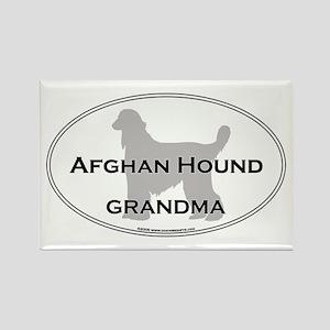 Afghan Hound GRANDMA Rectangle Magnet