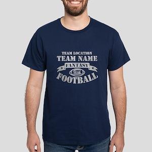 FANTASY FOOTBALL PERSONALIZED GREY Dark T-Shirt