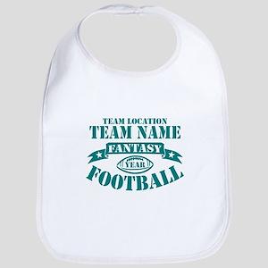 PERSONALIZED FANTASY FOOTBALL TEAL Bib