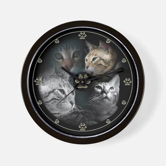Bengal Babies Wall Clock
