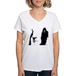 Georgie Goat Women's V-Neck T-Shirt