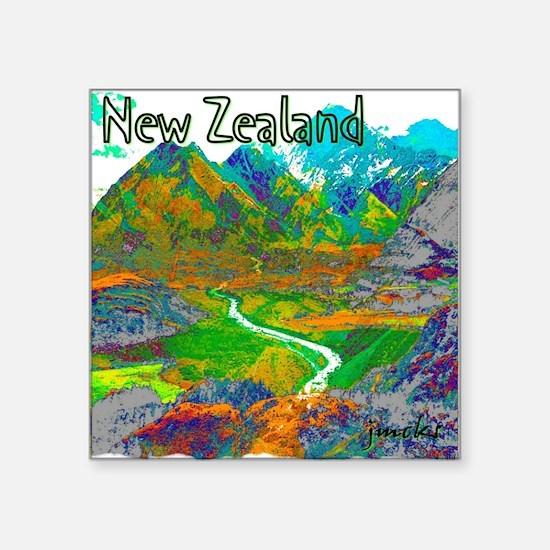 "New Zealand Square Sticker 3"" x 3"""