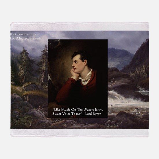 Lord Byron They sweet voice Quote Throw Blanket