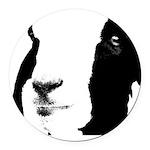 Georgie Goat Round Car Magnet