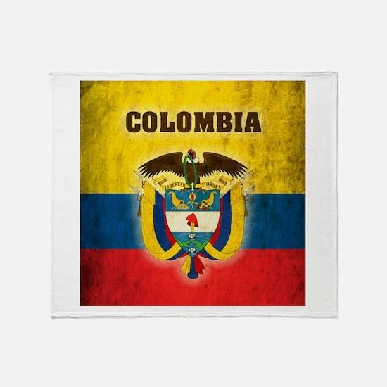 Vintage Colombia Throw Blanket
