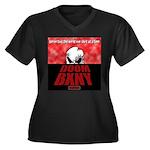 DoomDawn Women's Plus Size V-Neck Dark T-Shirt