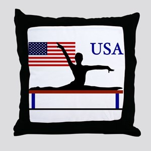 USA Gymnastics Throw Pillow