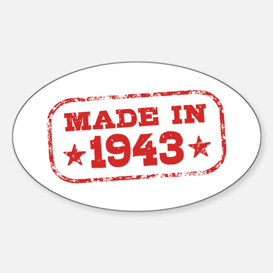 Made In 1943 Sticker (Oval)