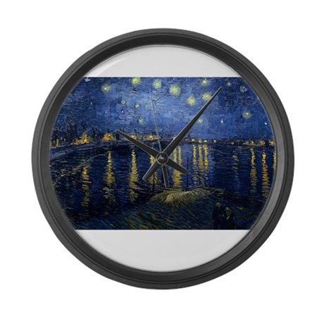 vincent van gogh Large Wall Clock