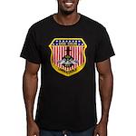 USS DRUM Men's Fitted T-Shirt (dark)