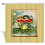 Vintage Christmas Angels Shower Curtain