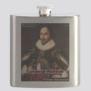 Shakespeare Run Fast Quote Gifts Flask
