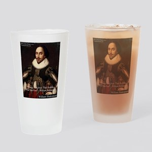 Shakespeare Run Fast Quote Gifts Drinking Glass