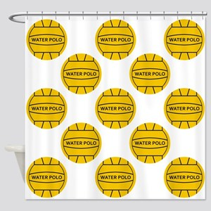 Water Polo Balls Shower Curtain