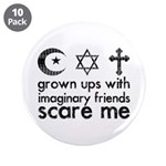 """Imaginary Friends 3.5"""" Button (10 pack)"""