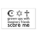 Imaginary Friends Sticker (Rectangle)