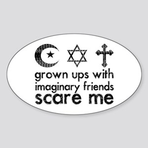Imaginary Friends Sticker (Oval)