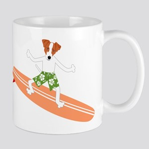 Jack Russell Terrier Surfer Coffee Mug
