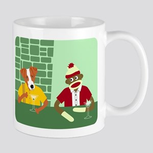 Jack Russell Terrier Sock Monkey Coffee Mug