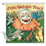 Pontchartrain Beach Clown Shower Curtain