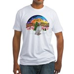 XMusic2-English Setter Fitted T-Shirt