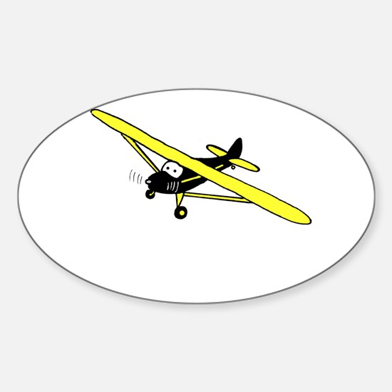 Black and Yellow Cub Sticker (Oval)