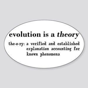 Evolution Definition of Theory Sticker (Oval)