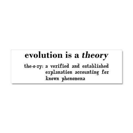 Evolution Definition of Theory Car Magnet 10 x 3